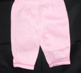 Roze babybroekje met zachte voering, new born, mt 56