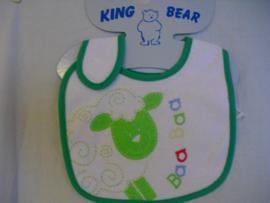 Badstof slabbetje van King Bear, schaap