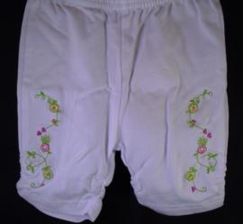 Capri legging, wit met bloemetjes, Bondi, mt 68