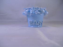 Blauw mini emmertje voor kleine dingen