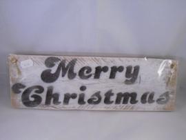 Steigerhout bord Merry Christmas, klein