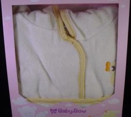 Gele badjas met capuchon, Baby-Bow