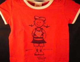 Rood t-shirt, matroosje, Bondi, mt 86