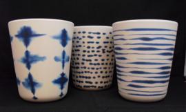 Beker van bamboe, blauw, marine