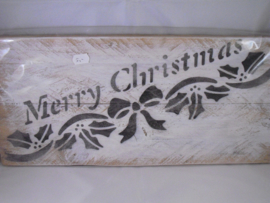 Steigerhout bord Merry Christmas, groot
