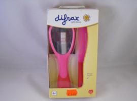 Haarborstel en kammetje van Difrax, roze