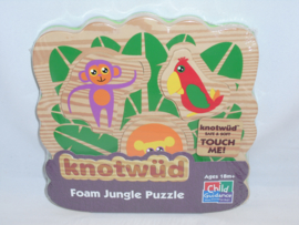 Puzzel van rubber, jungle