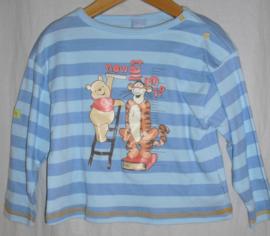 T-shirt lange mouwen, Winnie de Poeh en Tijgertje, mt 74-80
