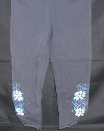 Legging navy met bloemetjes, mt 62