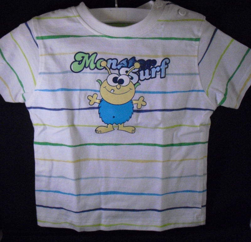 T-shirt, monster surf, baby club, mt 74