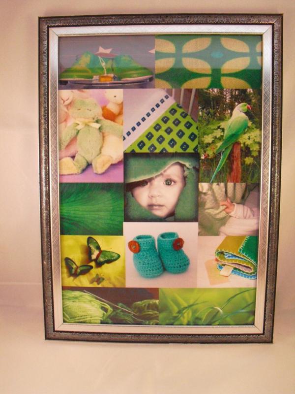 Fotoschilderij, groen nr 1