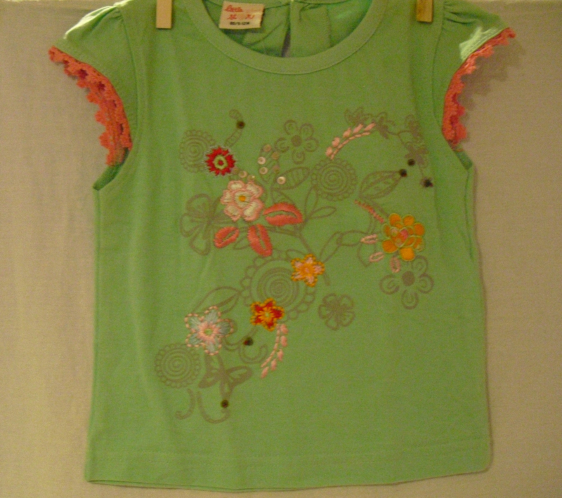 T-shirt, korte mouwen, flower, Little girl star, mt 86
