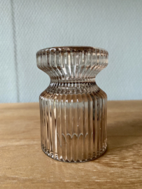 Kaarshouder hoog glas   LICHT ROZE