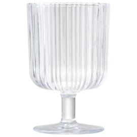 Wijnglas geribbeld 250 ml SET VAN 2