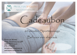 Cadeaubon Sportmassage 60 minuten