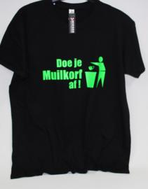 T-shirt Doe je muilkorf af.