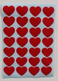 Stickervel A4   kleine hartjes #HARTVOORVRIJHEID