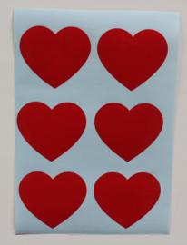 Stickervel A4  6 HARTJES  #HARTVOORVRIJHEID