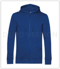 Organic Zipped hooded B&C