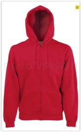 Zipped hoodie Fruit of the loom