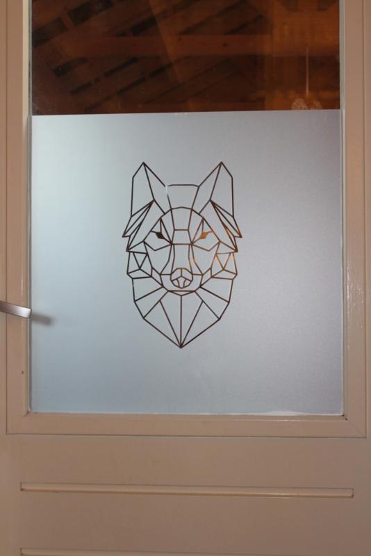 Raamblindering decoratie WOLF