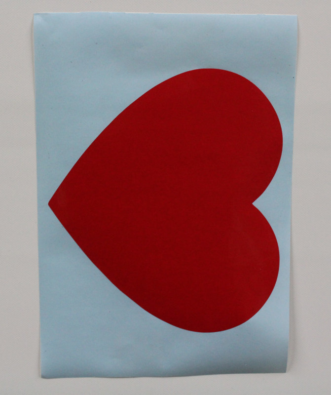 Stickervel A4 1 groothart #HARTVOORVRIJHEID
