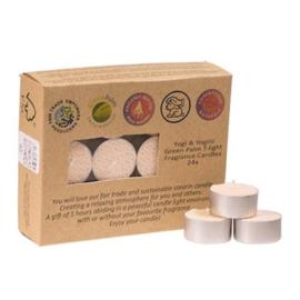 Fair Trade Theelichtjes stearine jasmijn