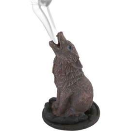 Wolf Incense Cone Holder by Lisa Parker