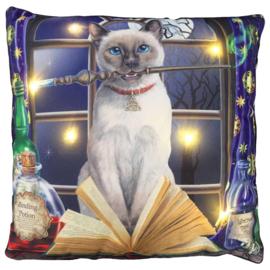 Lisa Parker Hocus Pocus Magische Kat LED Sierkussen