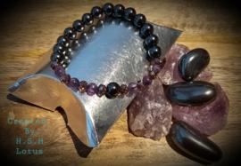 Amethist&Hematiet Armband