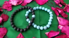 Armbanden 2 stuks koppel/vriendschap ying&yang Natuurlijke stenen