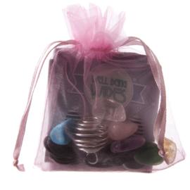 Maak je eigen edelsteen ketting Kit / zakje roze