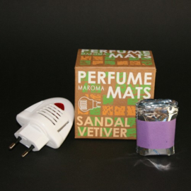 Sandal Vetiver Aroma, 10x matjes, 1x Electric Diffuser