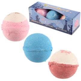 Set van 3 Betoverd Koninkrijk Badbruisballen - Zoet