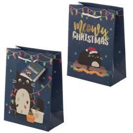 Kerstmis Feline Fine Cadeautasjes - Medium
