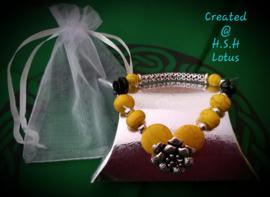 Howliet geel Armband