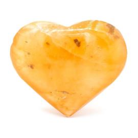 Hart knuffelsteen  seleniet oranje