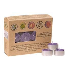 Fair Trade Theelichtjes stearine lavendel