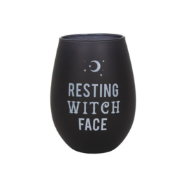 Resting Witch Face Wijnglas/ of andere dranken