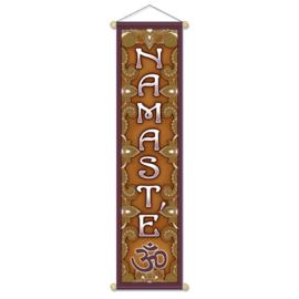 Namaste banner klein -- 15x60 cm