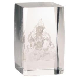 Kristall laser Vajrasattva Buddha - AA Kwaliteit