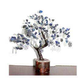 Sodaliet Edelsteenboompje met Pentagram-hangertjes en 160 steentjes