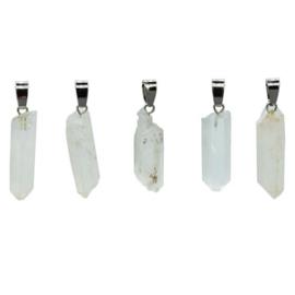 Hanger bergkristal facet /1hangertje  cm 3-4