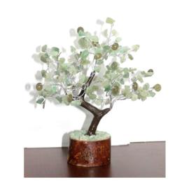 Groene Aventurijn Edelsteenboompje met hangertjes en 160 edelsteentjes