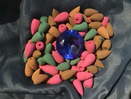 Backflow wierook Cones mix 50 gr verschillende geuren