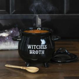 Witches Broth Soepkom met Heksenbezem Lepeltje