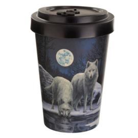 Lisa Parker Winter Strijders Wolf Herbruikbare Draaideksel Bambo