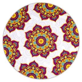 Mandala onderzetters rond rood set van 6