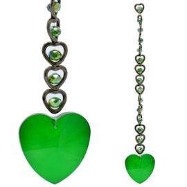 15 Harten Feng Shui Kristal Raamdecoratie groen