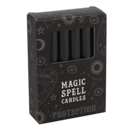 12 Black 'Protection' Spell Candles